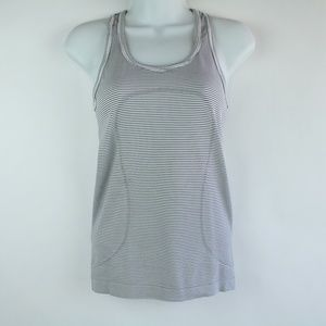 Lululemon Swiftly Racerback Tank Top Black & White